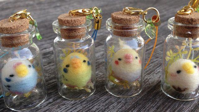癒される♡セリアのグッズと羊毛フェルトで小鳥のガラス小瓶ストラップを作ろう! LIMIA (リミア)