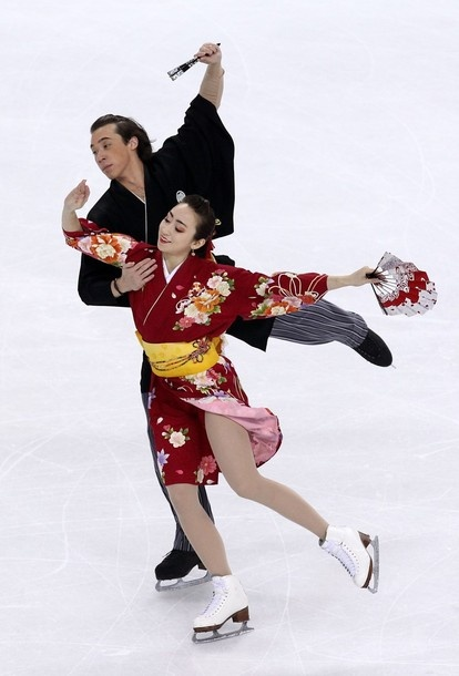 TURIN, ITALY - MARCH 25:  Cathy Reed and Chris Reed of Japan compete in the Ice Dance Original Dance during the 2010 ISU World Figure Skating Championships on March 25, 2010 at the Palevela in Turin, Italy.