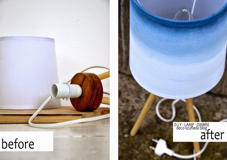 OMBRE LAMP - before / after -D.I.Y