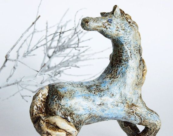Christmas toy Winter horse Christmas ornament by DecoNatureArt