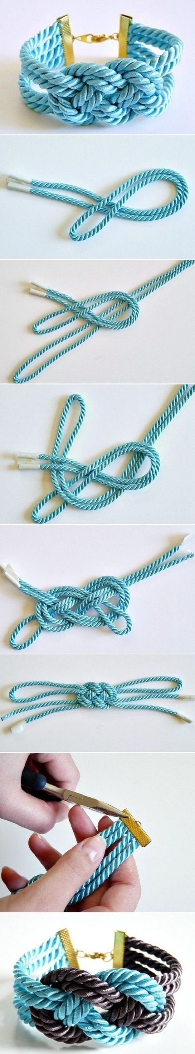 DIY Bracelets Easy Tutorials! DIY Rope Bracelets and Cool Jewelry Crafts Projects by DIY Ready at http://diyready.com/16-cool-diy-bracelets/