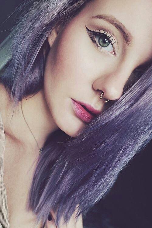 Septum piercing, lilac hair, purple hair | P e i r c e d ... | 500 x 750 jpeg 60kB