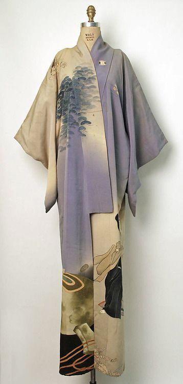 Silk kimono, second quarter 20th century, Japan