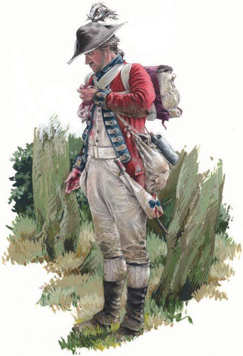 23rd Foot, Revolutionary War America 1770s.