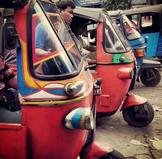 Traditional transportation of indonesia - bajaj