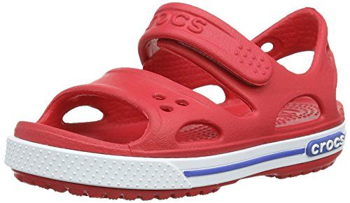 Crocs Cbnd2SndlPS, Unisex-Kinder Durchgängies Plateau Sandalen, Rot (Red/White 646), 19/20 EU - http://on-line-kaufen.de/crocs/19-20-eu-crocs-cbnd2sndlps-unisex-kinder-sandalen-6