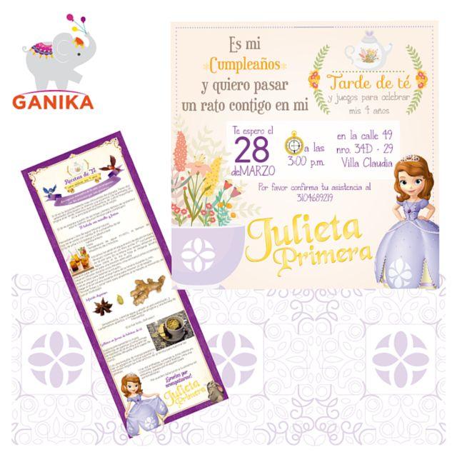 Cumpleaños temática Tarde de té Princesita Sofia.