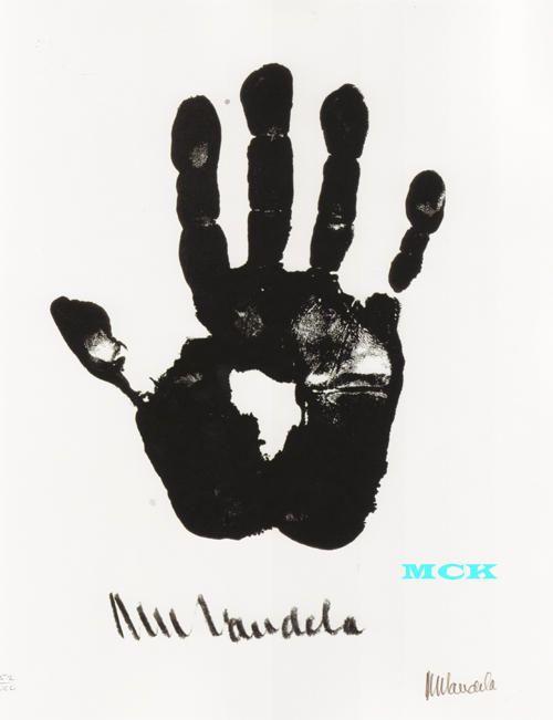 Nelson Mandela Handsigned Lithograph