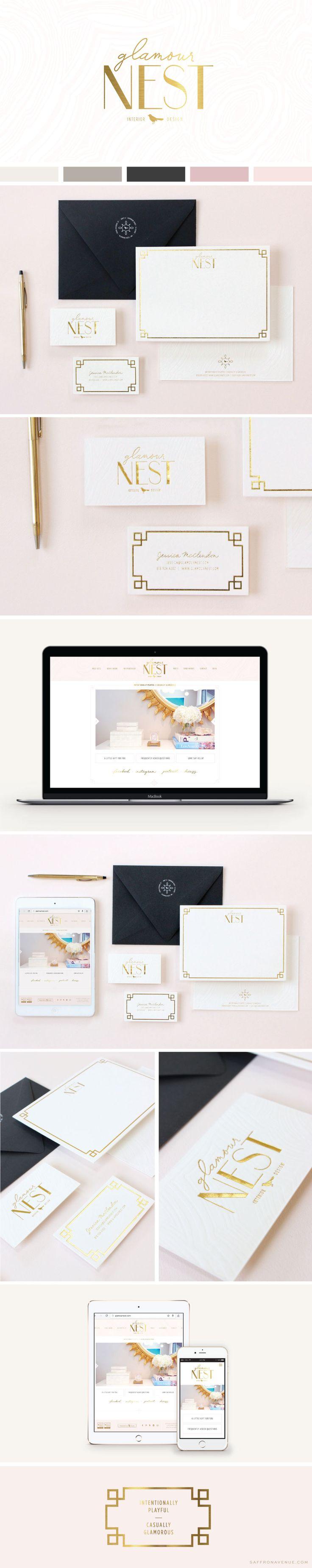 Logo Website Design :: Glamour Nest Interior Design