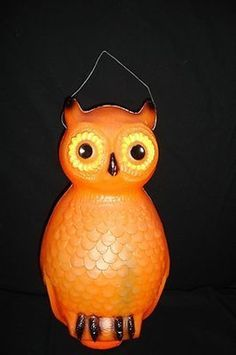 Vintage Lighted Union Blow Mold Halloween Owl