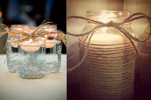 17 migliori idee su decorare barattoli di vetro su - Vasetti vetro decorati ...