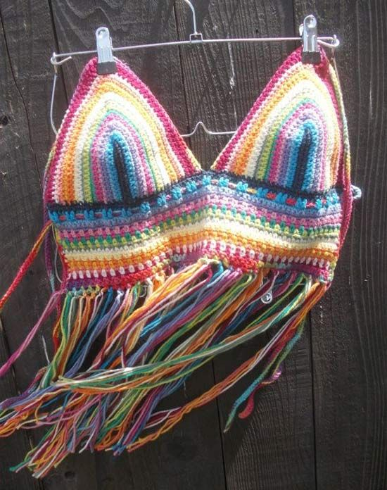 Inspiração: biquíni de crochê