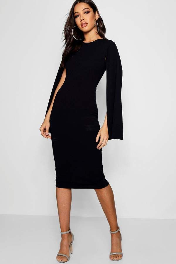 16++ Cape sleeve midi dress trends