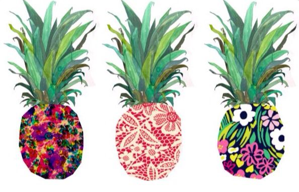 Tumblr fashion print cute pineapples drawing art pop art photography