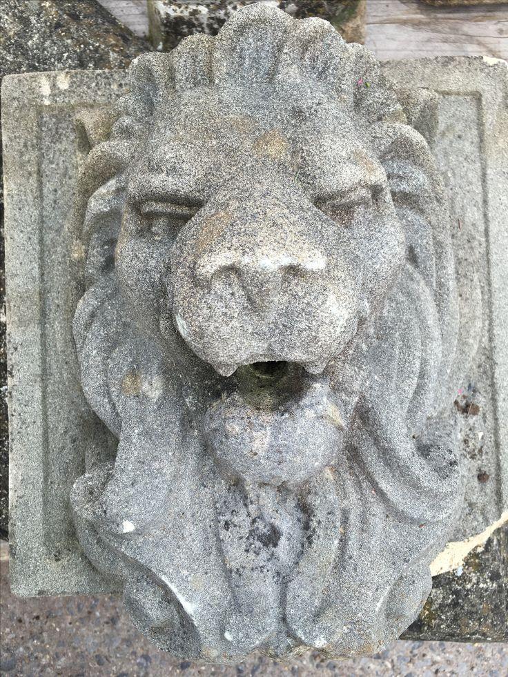 #Composition #lions head water spout