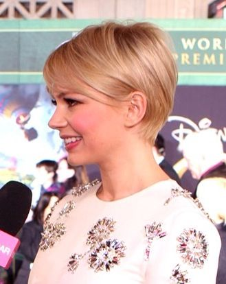 Michelle Williams Pixie Side Hair Inspiration Short Hair