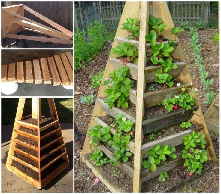 Vertical Garden Pyramid Planter