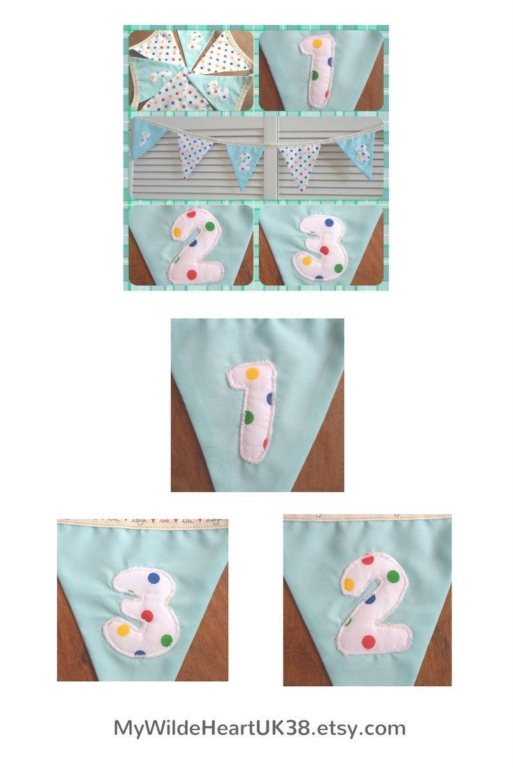 Cute bunting for boy or girl nursery . Click through to my shop. #babyboy #babygirl #nurserydecor #bunting #garland