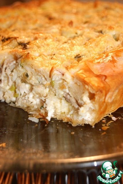 Greek village chicken pie