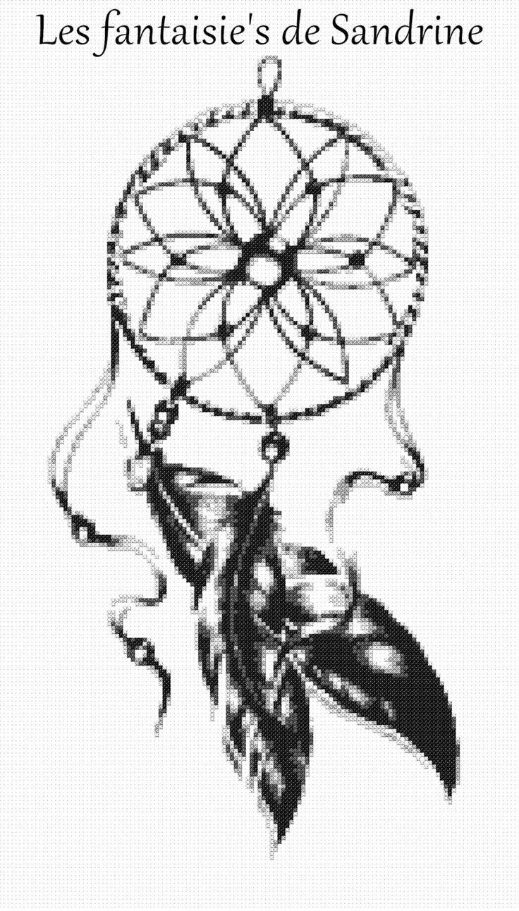 Grille point de croix Attrape rêves : Broderie par les-fantaisie-s-de-sandrine