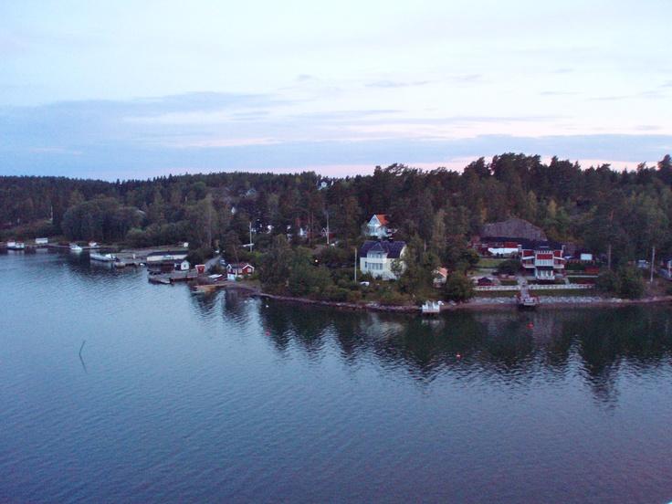 Miles de isla al entrar en (Estocolmo)