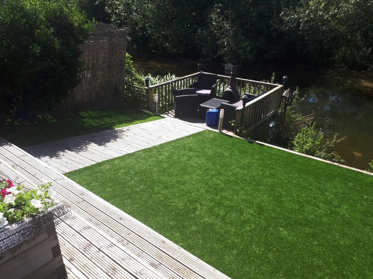 Unique garden transformation with natural looking Artificial Grass blending into the surroundings