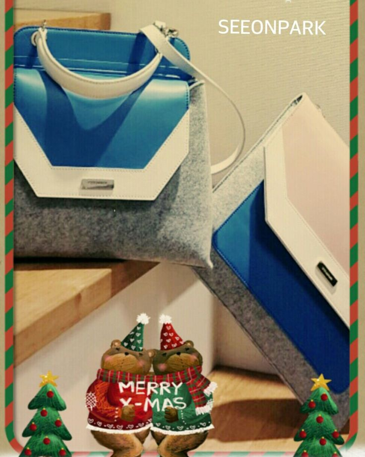 SEEONPARK tote & clutch bag Merry Christmas