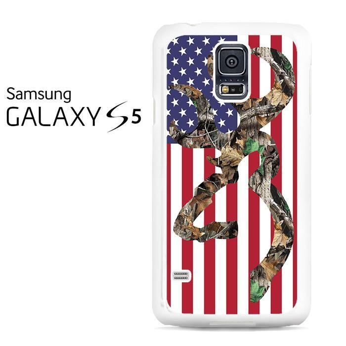 Browning Deer Camo American Flag Samsung Galaxy S5 Case