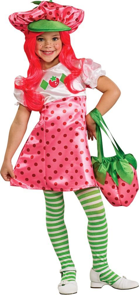 Girls Strawberry Shortcake Costume Deluxe - Party City