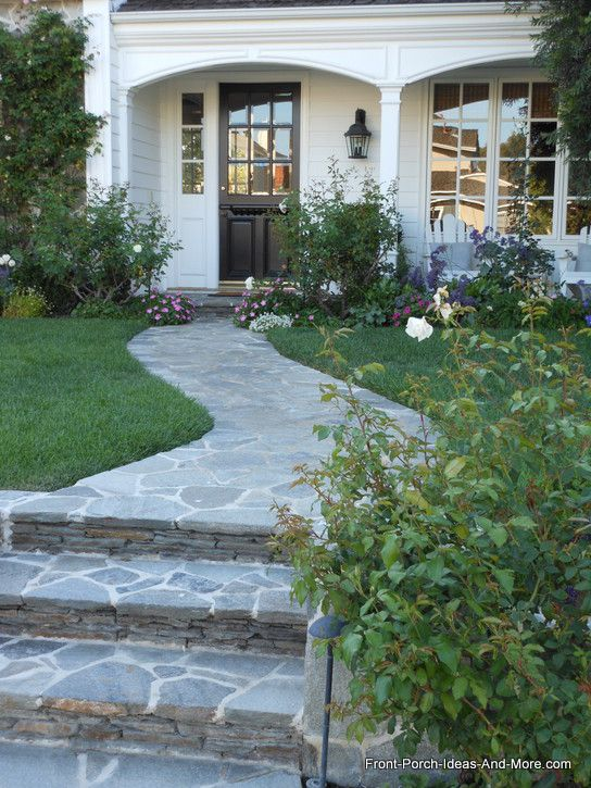 99 best images about wonderful walkways on pinterest for Stone ideas for front yard