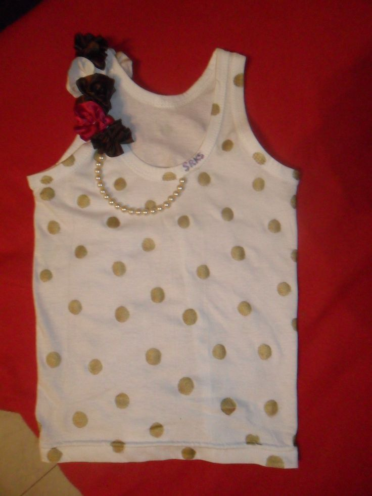 Gold dots and fabric flowers for little girls