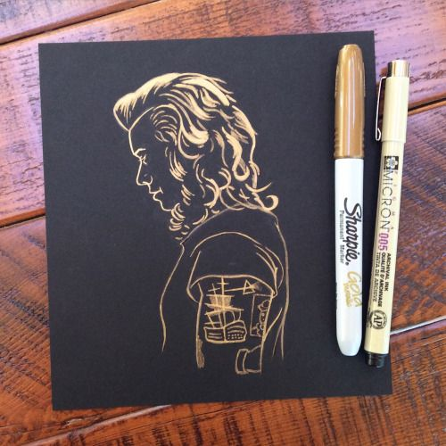 drawing of Harry Styles