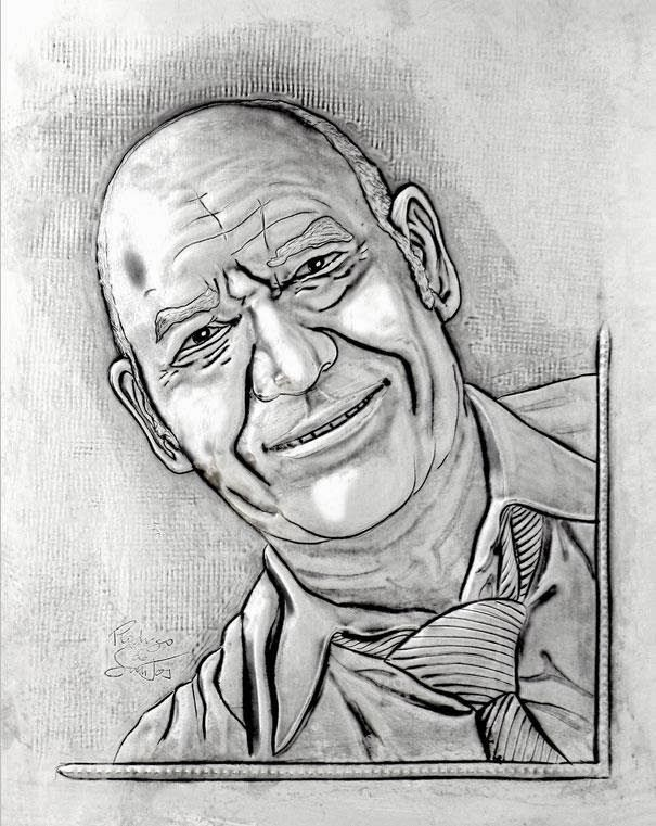 ArteyMetal: Retrato. Padre de Gloria 1