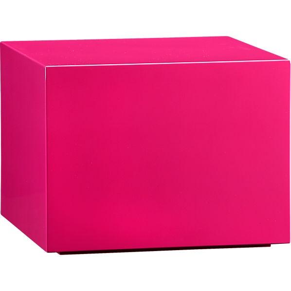 "$199 CitySlickerHotPink Cube 19""square: Side Table"