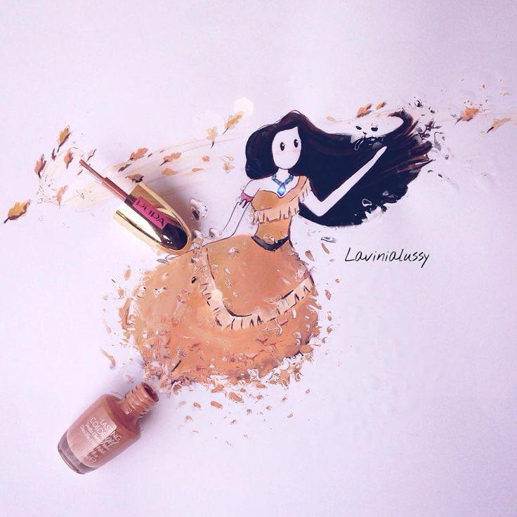Pocahontas by Lavinia Nail art Lover ✉️lavinia.lussignoli83@gmail.com you tube⤵️la truccatrice di unghie