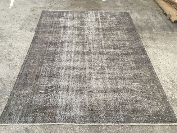Vintage Rug Over Dyed Blue Antique Overdyed By Eclecticrug On Etsy