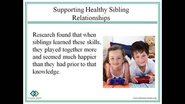 A discussion of the relationship between siblings