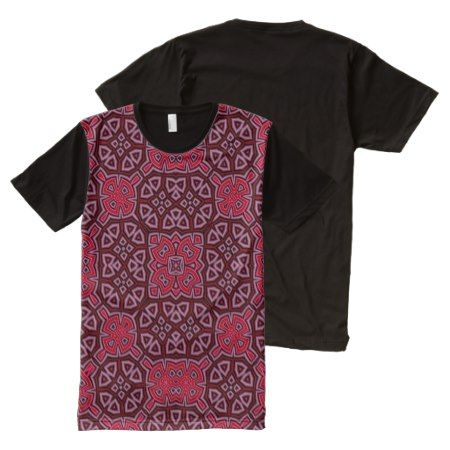 Abstract Pattern red All-Over-Print T-Shirt - tap to personalize and get yours