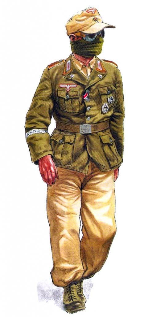 Carrista del sPzAbt 501 Deutsches Afrika Korps, Tunisi 1943