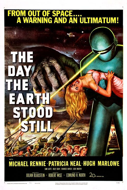 My favorite vintage science fiction movie. And another framed movie poster that hangs on the wall in our den.