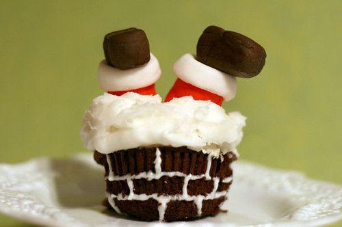 Santa cupcake - Ha!Christmas Parties, Cupcakes Ideas, Christmas Sweets, For Kids, Funny Christmas, Christmas Art, Holiday Cupcakes, Christmas Cupcakes, Cupcakes Rosa-Choqu