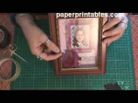How to make a shadow box frame simple method tutorial - YouTube