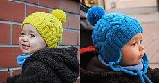 Вязание шапок для мальчиков косами / Вязание спицами / Вязание спицами для детей