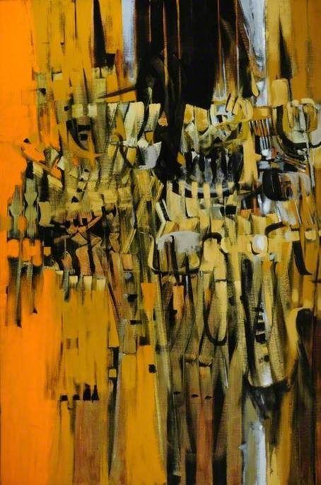 Sandspoor V (1962), Bryan Wynter, abstract, art, orange, painting