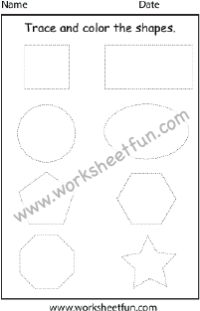 Shapes – 1 Worksheet