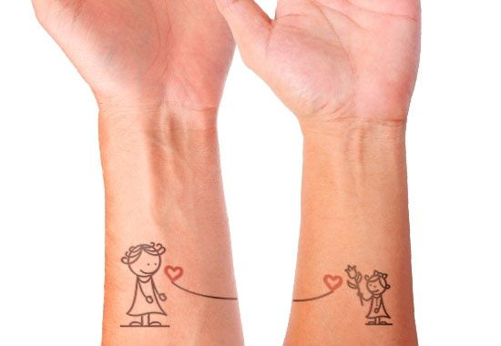 mother daughter wrist tattoo
