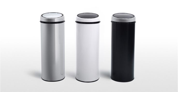 Sensé Bin, une poubelle automatique 50L blanche   made.com