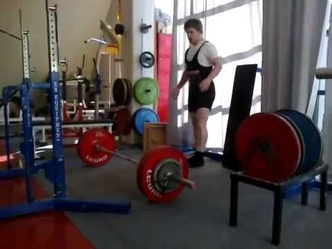 Deadlift/ Markløft: 195 kg x 2 reps. Bodyweight: 81 kg.