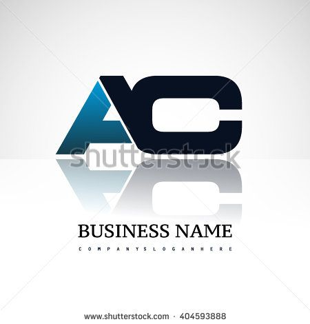 AC company linked letter logo icon blue and black - stock vector
