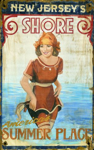 Jersey Shore Vintage Wood Sign at AllPosters.com